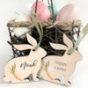 Easter bunny gift tag with Carrot, Urban Nest Décor
