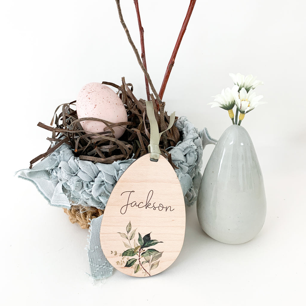 Personalized easter egg gift tag, Urban Nest Décor