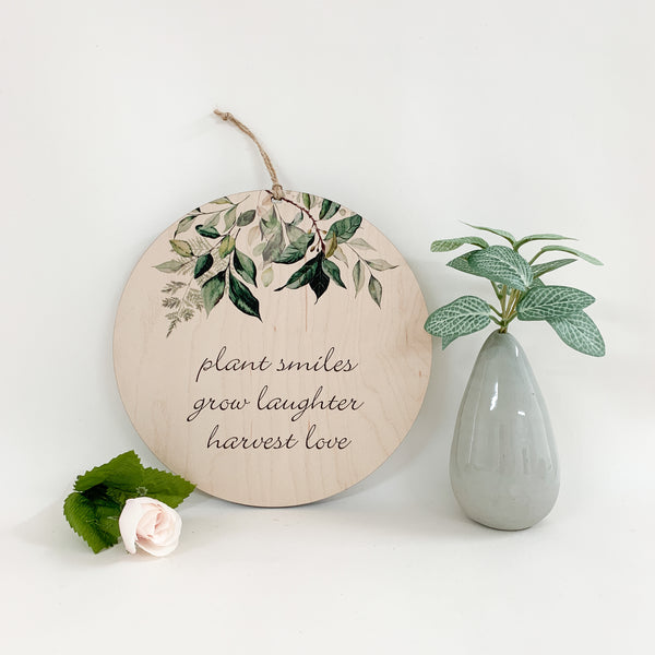 Plant Smiles, Grow Laughter, Harvest Love. mother's day gift. happy mother's day. urban nest décor