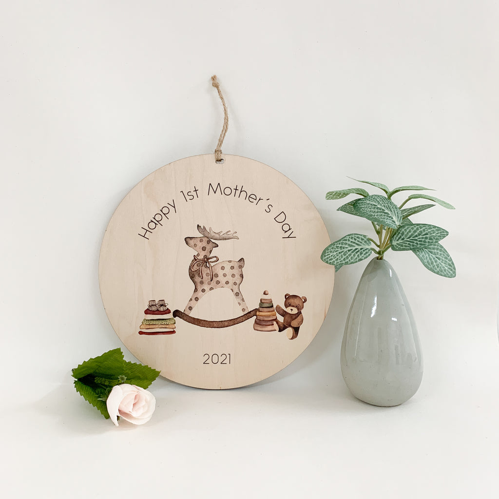 Happy 1st Mother's Day. Happy 1st Grandmother's Day. mother's day gift. urban nest décor