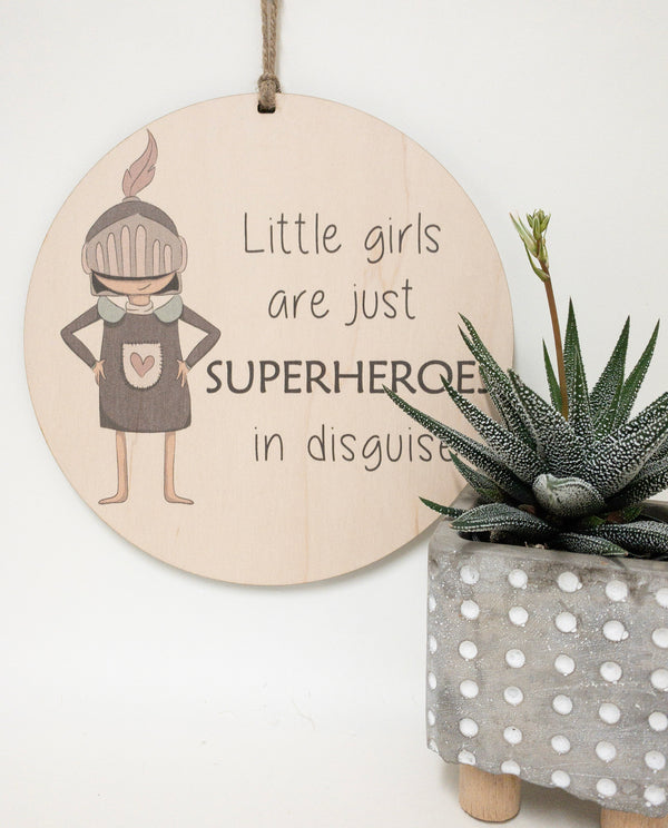 Little girls are just superheroes on disguise_urban nest decor
