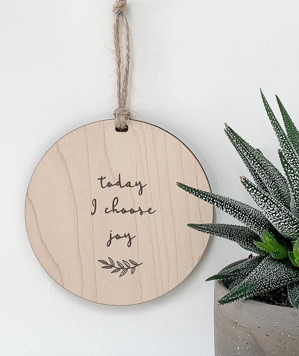 Today I Choose Joy_urban nest decor