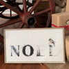 Christmas noel wood sign