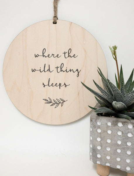 Where the wild thing sleeps_urban nest decor