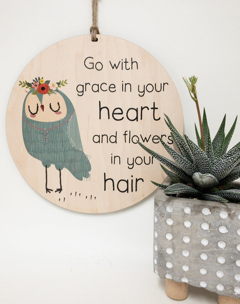 go with grace in your heart and flowers in your hair_urban nest decor