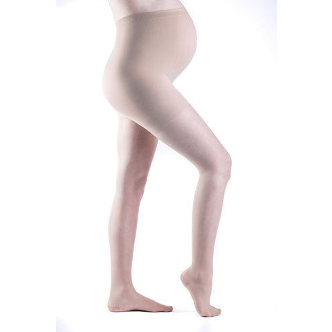 Sigvaris Sheer Fashion Women's 15-20 mmHg Maternity Pantyhose, Natural