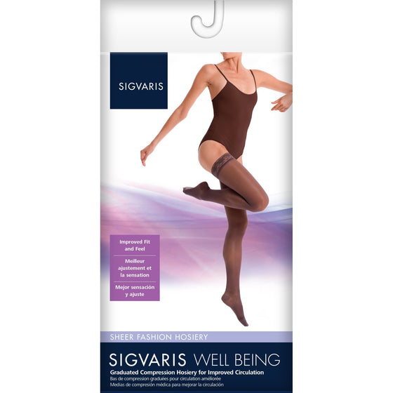 Sigvaris Sheer Fashion Women's 15-20 mmHg Thigh High