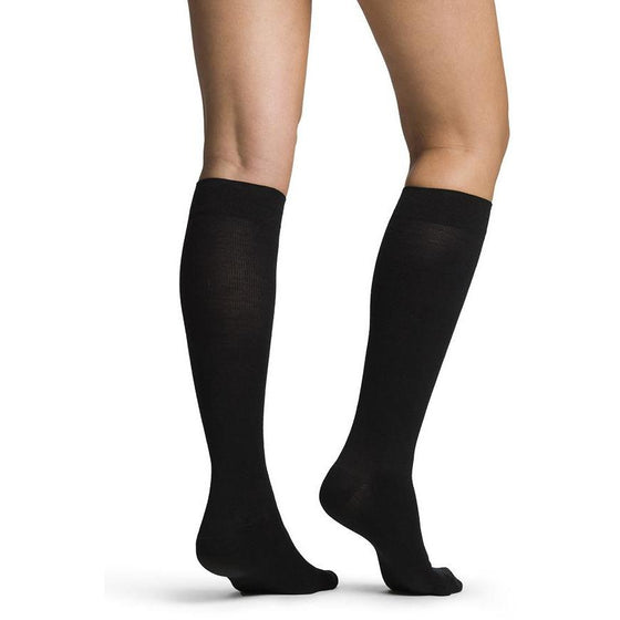 Sigvaris Merino Wool Women's 20-30 mmHg Knee High, Black