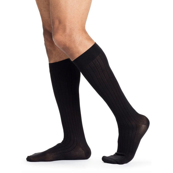 Sigvaris Business Casual Men's 15-20 mmHg Knee High, Black