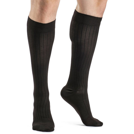 Sigvaris Business Casual Men's 15-20 mmHg Knee High, Brown