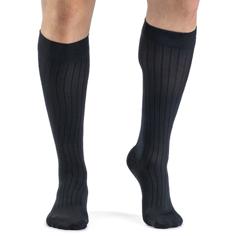 Sigvaris Business Casual Men's 15-20 mmHg Knee High, Navy