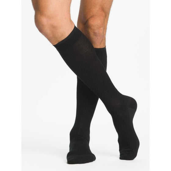 Sigvaris Merino Wool Men's 20-30 mmHg Knee High, Black