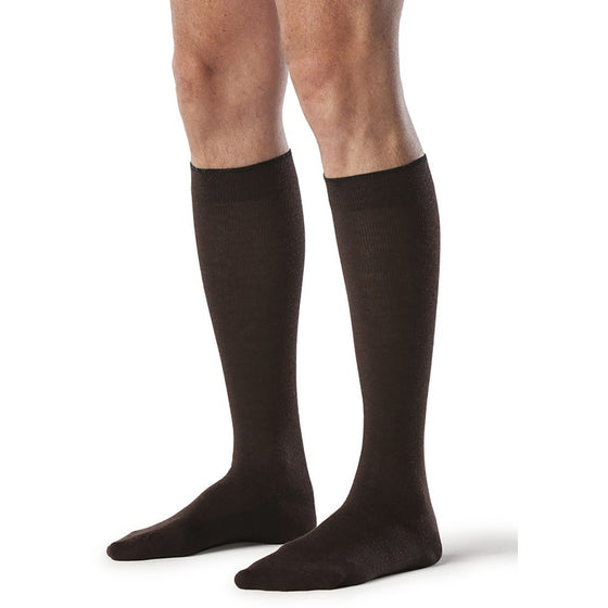 Sigvaris All-Season Merino Wool Men's 15-20 mmHg Knee High, Brown
