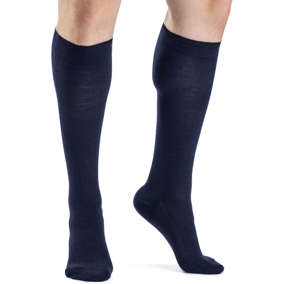 Sigvaris Merino Wool Men's 20-30 mmHg Knee High, Navy