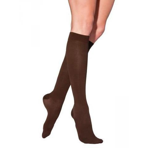Sigvaris Cotton Women's 20-30 mmHg Knee High, Chocolate