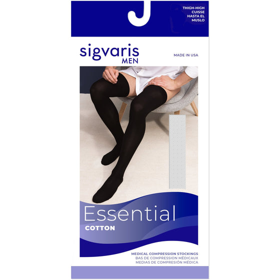 Sigvaris Cotton Men's 20-30 mmHg Thigh High