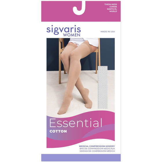 Sigvaris Cotton Women's 20-30 mmHg Thigh High
