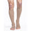 Sigvaris Cotton 30-40 mmHg OPEN TOE Knee High, Light Beige (Crispa)