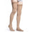 Sigvaris Cotton Men's 20-30 mmHg Thigh High, Light Beige (Crispa)