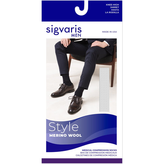 Sigvaris Merino Wool Men's 20-30 mmHg Knee High