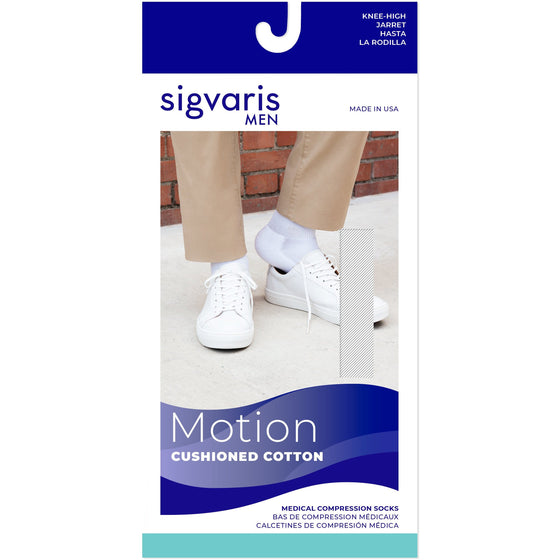 Sigvaris Cushioned Cotton Men's 20-30 mmHg Knee High