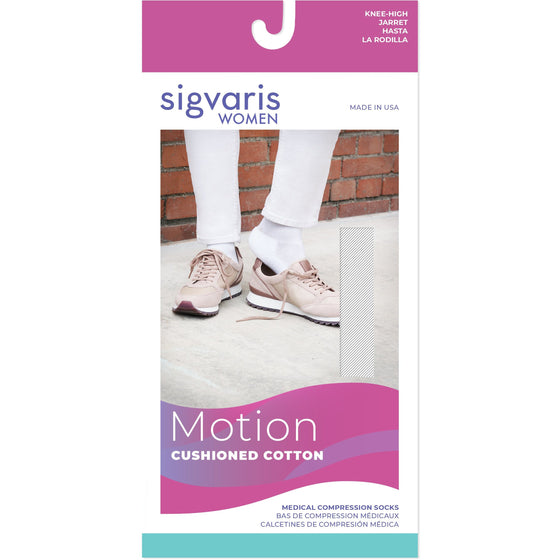 Sigvaris Cushioned Cotton Women's 20-30 mmHg Knee High