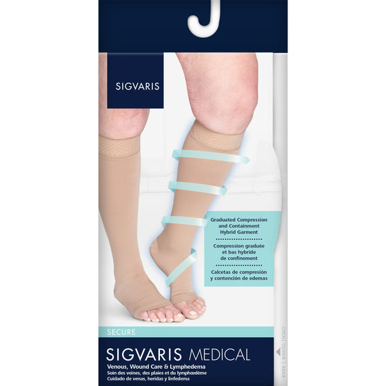 Sigvaris Secure 40-50 mmHg OPEN TOE Knee High