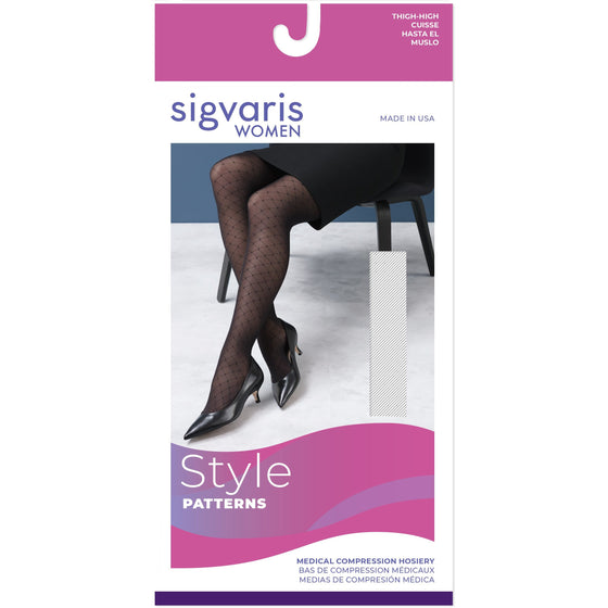 Sigvaris Patterns Women's 15-20 mmHg Thigh High