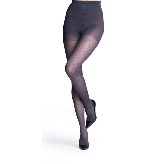 Sigvaris Patterns Women's 20-30 mmHg Pantyhose, Graphite