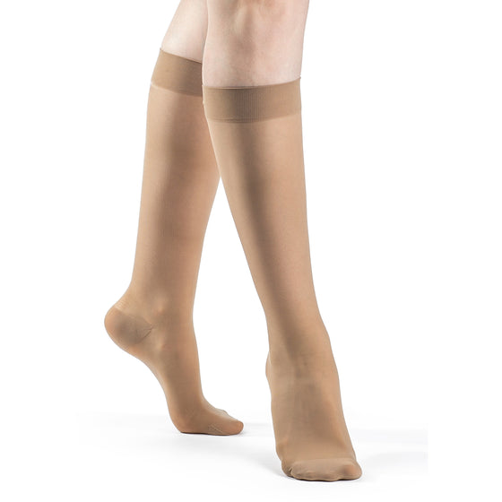 Sigvaris Sheer Women's 15-20 mmHg Knee High, Suntan