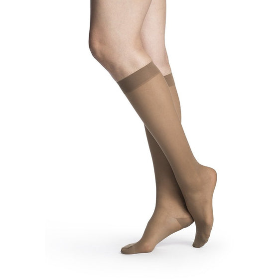 Sigvaris Sheer Women's 20-30 mmHg Knee High, Café