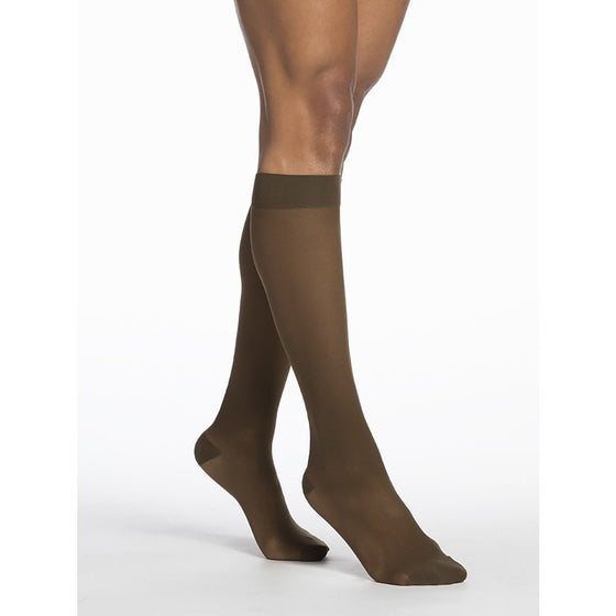 Sigvaris Sheer Women's 15-20 mmHg Knee High, Mocha
