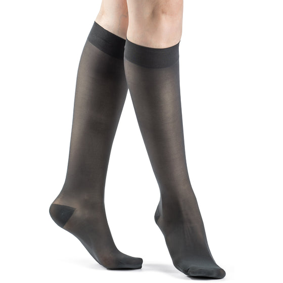 Sigvaris Sheer Women's 20-30 mmHg Knee High, Nightshade