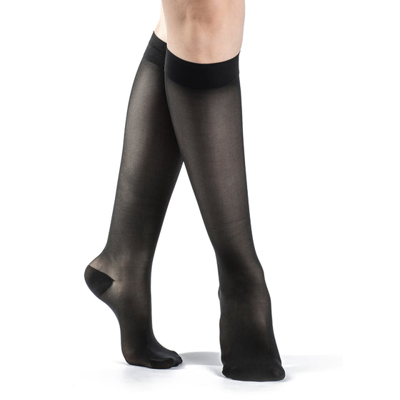 Sigvaris Sheer Women's 20-30 mmHg Knee High, Black