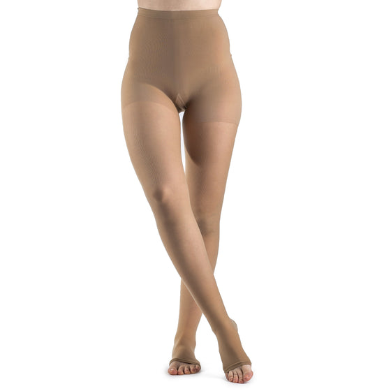Sigvaris Sheer Women's 30-40 mmHg Pantyhose, Suntan