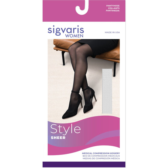 Sigvaris Sheer Women's 30-40 mmHg OPEN TOE Pantyhose