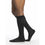 Sigvaris Microfiber Men's 30-40 mmHg Knee High w/ Silicone Beaded Grip-Top, Black