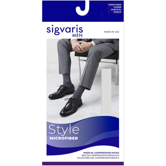 Sigvaris Microfiber Men's 30-40 mmHg Thigh High