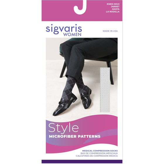 Sigvaris Microfiber Patterns Women's 20-30 mmHg Knee High
