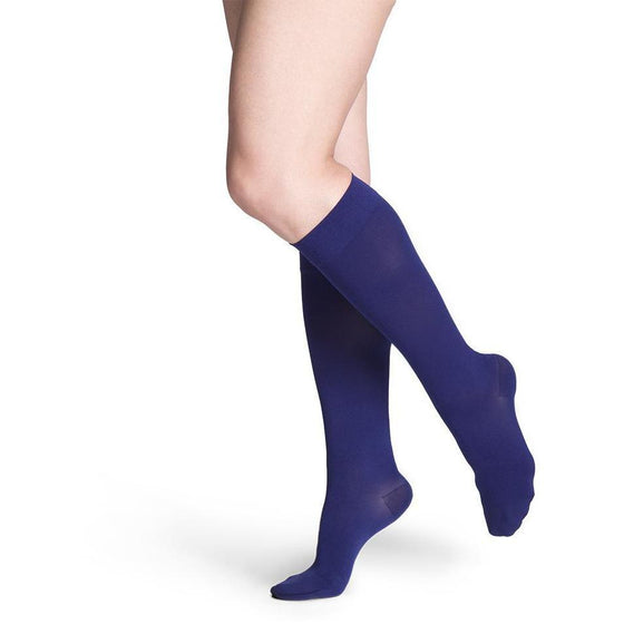 Sigvaris Soft Opaque Women's 20-30 mmHg Knee High, Blue Iris