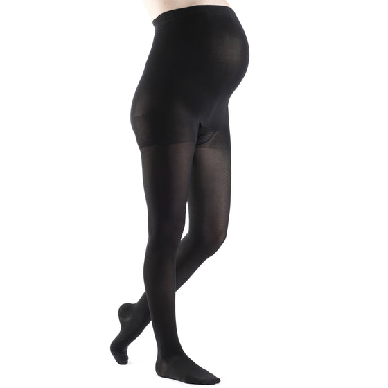 Sigvaris Soft Opaque Women's Maternity 20-30 mmHg Pantyhose, Black