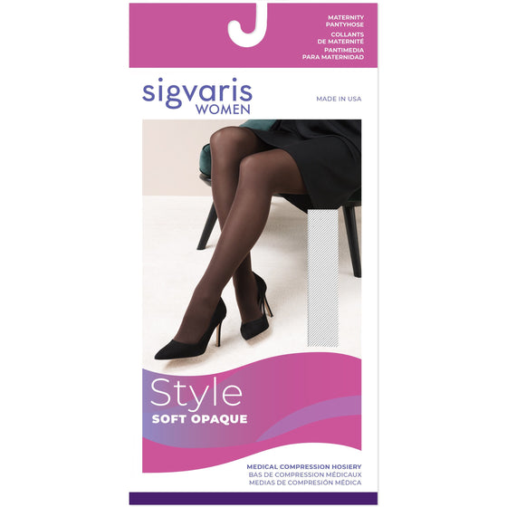 Sigvaris Soft Opaque Women's Maternity 20-30 mmHg Pantyhose