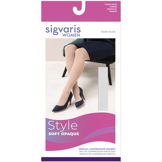 Sigvaris Soft Opaque Women's 30-40 mmHg Thigh High