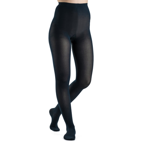 Sigvaris Soft Opaque Women's 15-20 mmHg Pantyhose, Midnight Blue