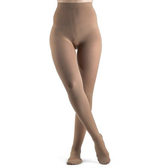 Sigvaris Soft Opaque Women's 30-40 mmHg Pantyhose, Nude