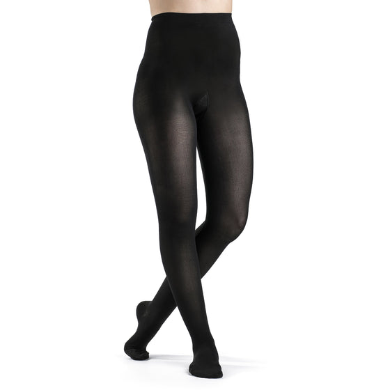 Sigvaris Soft Opaque Women's 15-20 mmHg Pantyhose, Black