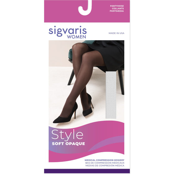 Sigvaris Soft Opaque Women's 20-30 mmHg OPEN TOE Pantyhose