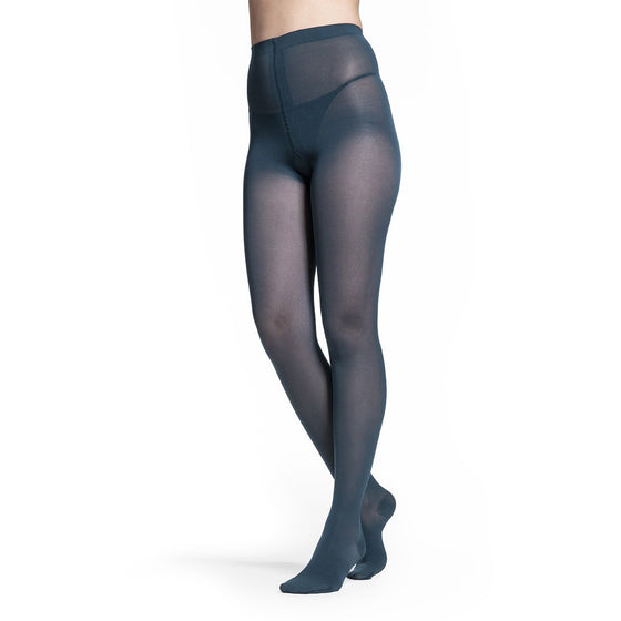 Sigvaris Soft Opaque Women's 15-20 mmHg Pantyhose, Teal