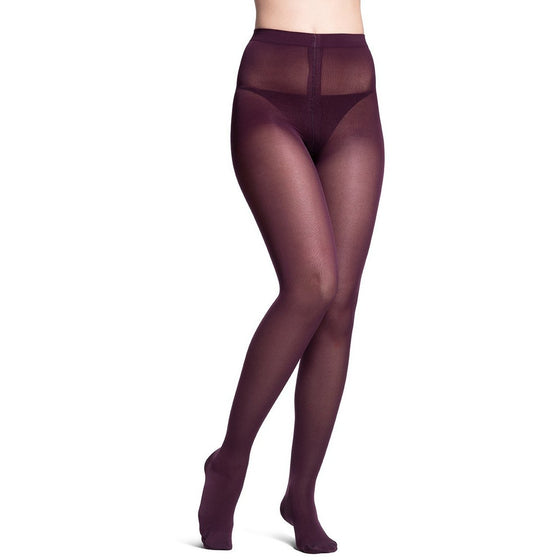 Sigvaris Soft Opaque Women's 15-20 mmHg Pantyhose, Mulberry