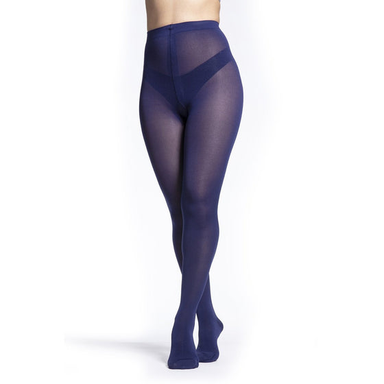 Sigvaris Soft Opaque Women's 15-20 mmHg Pantyhose, Blue Iris